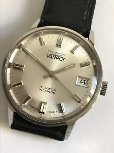 【送料無料】腕時計 ウォッチ ビンテージカレンダースイスraro reloj vintage vanroy 17 jewels incabloc calendar swiss made