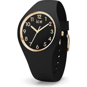 【送料無料】腕時計 ウォッチ オロロジオシリコーンゴールドメートルウォッチorologio ice watch glam ic015338 silicone nero gold dorato small 100mt