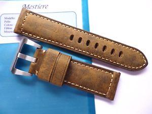 【送料無料】腕時計 ウォッチ ハンドメイドストラップパネライブラウンビンテージレザーhandmade strap in 24mm brown vintage leather in 2422mm compatible panerai