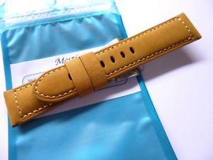 【送料無料】腕時計 ウォッチ ハンドメイドレザーストラップパネライ handmade leather strap in 24mm  asso in 2422mm compatible with panerai
