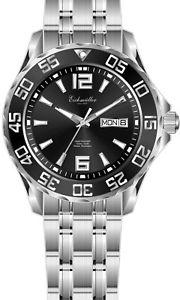 【送料無料】腕時計 ウォッチ ガラスeichmller automatik 21 jewels fondo de cristal 10atm daydate negro reloj hombre 345101