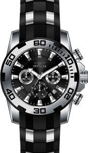 【送料無料】腕時計 ウォッチ プロダイバーステンレススチールストップウォッチブラックシリコンinvicta hombres pro diver cronmetro acero inoxidable negro reloj de silicona