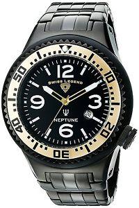 【送料無料】腕時計 ウォッチ スイスネプチューンブラックステンレススチールクォーツswiss legend neptuno acero inoxidable negro hombres reloj de cuarzo