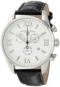【送料無料】腕時計 ウォッチ スイスブラックレザーベルトケースシルバーアラームswiss legend 22011 02 blk correa negra de cuero plata estuche hombres reloj