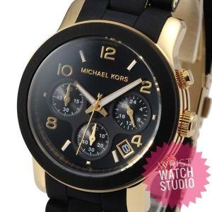 【送料無料】腕時計 ウォッチ テニスブラックゴールドレディースデザイナーpista de reloj de mk5191 michael kors damas reloj de diseador de oro negro para mujer