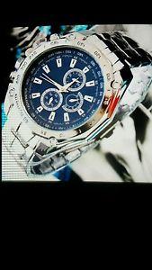 【送料無料】腕時計 ウォッチ ファッションステンレススチールスポーツreloj de lujo de moda hombre de acero inoxidable cuarzo analgico mano sport reloj de pulsera