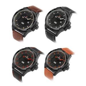 【送料無料】腕時計 ウォッチ ウォッチクォーツムーブメントnaviforce 9100 cuero hombres impermeable reloj fecha movimiento de cuarzo oe