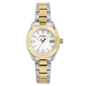 【送料無料】腕時計 ウォッチ ロータリートーンゴールドストラップステンレススチールポンドrotary damas de oro en dos tonos acero inoxidable pulsera correa reloj lb0035601