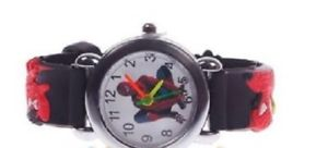 【送料無料】腕時計 ウォッチ クモアナログクォーツストラップレザーラバーウォッチaraa dibujos nio nios chicos analgico de cuarzo reloj de pulsera goma cuero