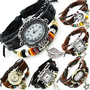 【送料無料】腕時計 ウォッチ レディースサーファースタイルブレスレットブレスレットaxy reloj de pulsera de cuerodamas estilo surfistareloj pulserapulsera enrolladawatch bracelet