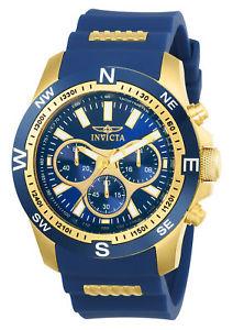 【送料無料】腕時計 ウォッチ トーンポリウレタンフォーム22682 invicta 45mm hombres iforce azul y tono dorado poliuretano
