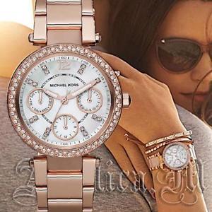 【送料無料】腕時計 ウォッチ ミニパーカーピンクゴールドラインストーンoriginal michael kors reloj mujer mk5616 mini parker color rosa dorado estrs