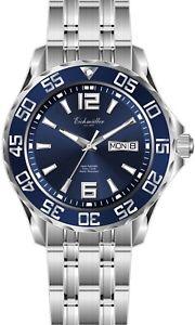 【送料無料】腕時計 ウォッチ ウォッチマンeichmller automatik 21 jewels fondo de cristal da 10atm amp; fecha azul reloj hombre 345102