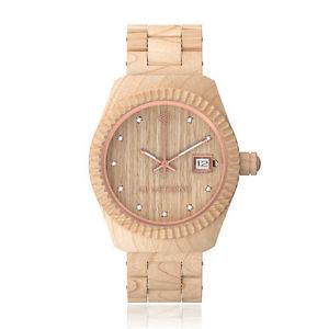 【送料無料】腕時計 ウォッチ アルバナチュラーレスイスクオーツスワロフスキードナオロロジオab aeterno alba 100 legno naturale quarzo swiss made swarovski donna orologio