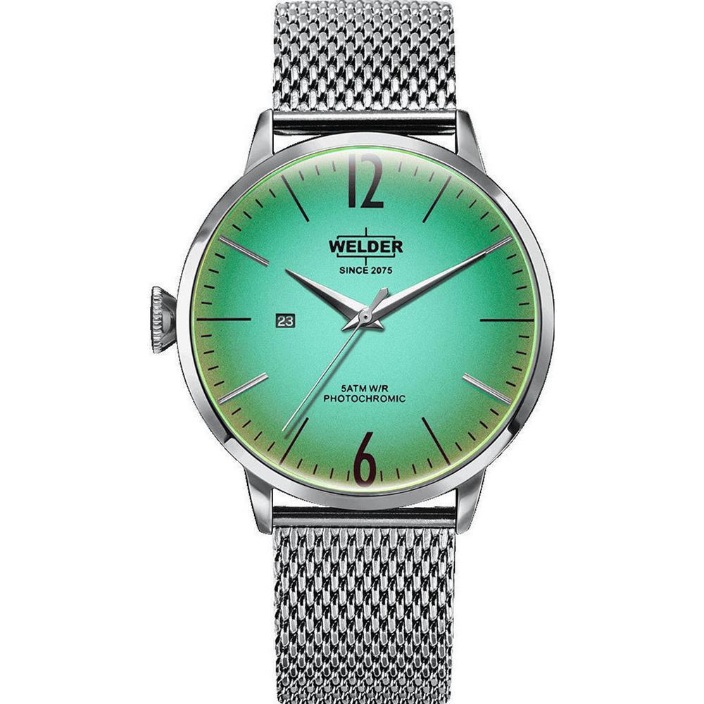 【送料無料】腕時計 ウォッチ ケースクォーツステンレススチールブレスレットsoldador breezy 45mm pulsera de acero inoxidable para hombre de cuarzo reloj con cuadrante verde y e
