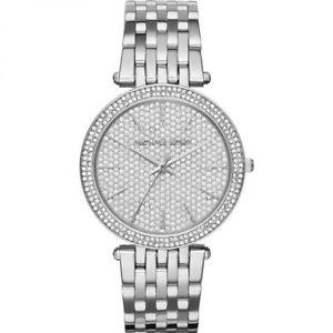 【送料無料】腕時計 ウォッチ ガラスシルバーマイケルアラームnuevo plata cristal pave michael kors darci reloj para mujeres mk3437