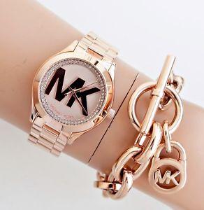 【送料無料】腕時計 ウォッチ スリムウォッチピンクゴールドoriginal michael kors reloj mujer mk3650 slim runway color rosa dorado nuevo