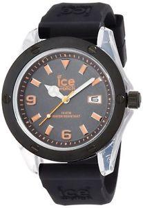 【送料無料】腕時計 ウォッチ アイスマンブラックラバーストラップウォッチオレンジicewatch para hombre xxoexxr09 xxl reloj correa goma negro esfera naranja nuevo