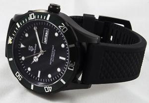 腕時計 ウォッチ ステンレススチールブラックマンシリーズアラーム
