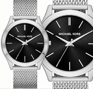 【送料無料】腕時計 ウォッチ オリジナルスリムシルバーブラックoriginal michael kors reloj de hombre mk8606 runway slim platanegro nuevo