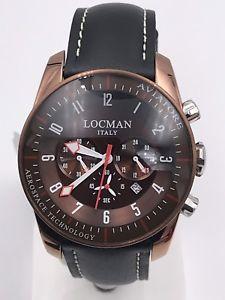 【送料無料】腕時計 ウォッチ クロノorologio locman aviatore chrono 44mm 450bn 540 acciaiopelle scontatissimo