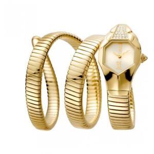 【送料無料】腕時計 ウォッチ シックゴールドorologio donna just cavalli glam chic jc1l022m0025 acciaio gold serpente
