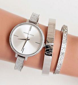 腕時計 ウォッチ ミハエルシルバーガラスmichael kors reloj fantastico mk3783 jaryn en color platacristal nuevo