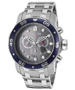 【送料無料】腕時計 ウォッチ プロダイバースイスクオーツクロノグラフシルバーアラームinvicta hombres pro diver crongrafo 48mm cuarzo suizo plata ss reloj 80059