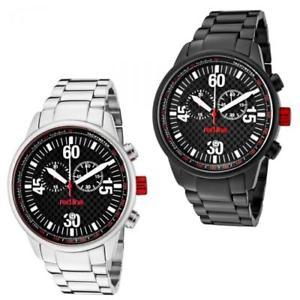 【送料無料】腕時計 ウォッチ アラームレッドラインクロノステンレススチールブレスレットダイバースポーツメートル