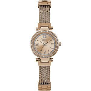 【送料無料】腕時計 ウォッチ ミニソーホーピンクゴールドorologio guess mini soho w1009l3 watch acciaio donna zirconi 27 mm oro rosa