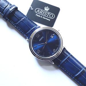 腕時計 ウォッチ クラシックステンレスサファイアクリスタルペンダントnuevo anuncioaristo 4h200b, reloj de pulsera clsica, acero inoxidable, cristal zafiro, colgante,