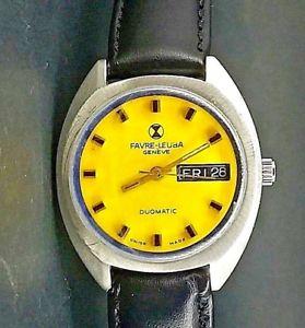 腕時計 ウォッチ アラームファーブルジュネーブウォッチexcelente reloj vitage favre leuba geneve automatico  watch montre