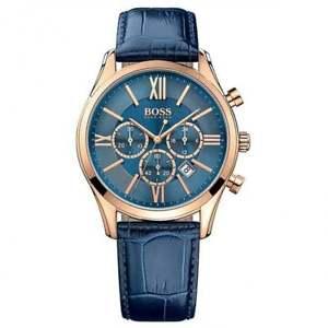 【送料無料】腕時計 ウォッチ ヒューゴボスクロノグラフアラームhugo boss 1513320 azul cuero crongrafo reloj de hombre
