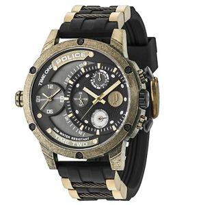 【送料無料】腕時計 ウォッチ シリコンストラップアラームpolica reloj para hombre con correa negra del silicio 14536 jsqgam rrp 179