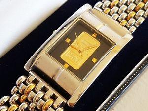 腕時計 ウォッチ ケーススイスインゴットインゴットedicin limitada de caballero swiss lingote reloj 9999 1g solid gold lingote en caja  certificado