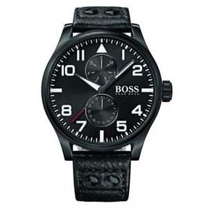 【送料無料】腕時計 ウォッチ ヒューゴボスブラックレザーhugo boss 1513083 de cuero negro reloj para hombres
