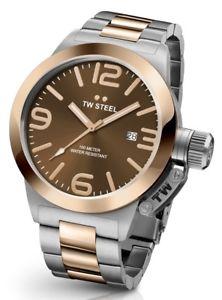 【送料無料】腕時計 ウォッチ スチールトーンクロックtw steel cb152 hombre dos tonos 45mm canteen reloj 2 aos de garanta