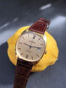 【送料無料】腕時計 ウォッチ ビンテージクラシッククロックゴールドマンvintage dugena clsico manobobinado chaado en oro reloj de hombre cal2527 34,5mm