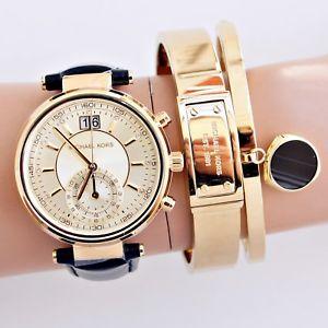 【送料無料】腕時計 ウォッチ オリジナルソーヤーカップゴールドブラックoriginal michael kors reloj fantastico mk2433 sawyer taza oronegro nuevo