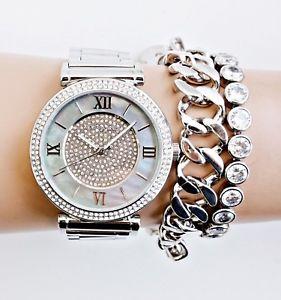【送料無料】腕時計 ウォッチ ウォッチカラーシルバーマザーオブパールoriginal michael kors reloj mujer mk3331 catlin color plata ncar nuevo