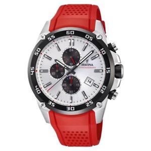 【送料無料】腕時計 ウォッチ クロノアラームベルトfestina chrono reloj la originales con correa rojo f203301