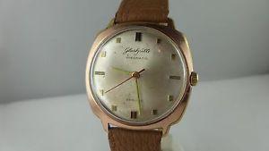 【送料無料】腕時計 ウォッチ ビンテージガラスブレスレットアラーム vintage vidriera spezimatic 26 rubis pulsera de cuero automatik reloj hombre b5