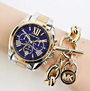 【送料無料】腕時計 ウォッチ クロックカラーシルバーゴールドoriginal michael kors reloj mujer mk5976 bradshaw bicolor color plataoro nueva