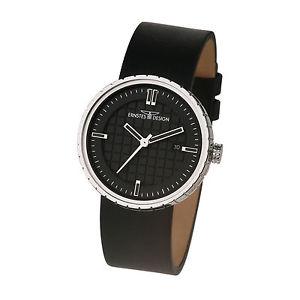 【送料無料】腕時計 ウォッチ ステンレスデザインernstes design reloj de pulsera para hombre pantalla fecha acero inox u014 bl