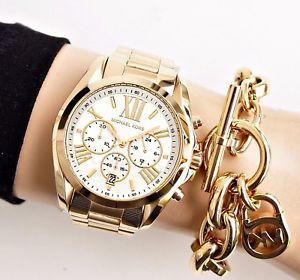 【送料無料】腕時計 ウォッチ クロックカラーゴールドシルバーoriginal michael kors reloj mujer mk6266 bradshaw xl color oroplata nuevo