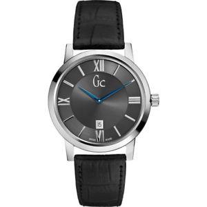 【送料無料】腕時計 ウォッチ クラスアラームguess gc para hombre ajustada de clase de cuero negro reloj x60003g5s