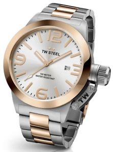 【送料無料】腕時計 ウォッチ スチールトーンアラームtw steel cb122 reloj de hombre de dos tonos 50mm cantina 2 aos de garanta