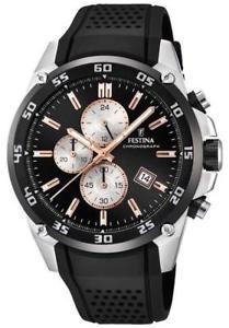 【送料無料】腕時計 ウォッチ クロノアラームストラップfestina chrono reloj la originales con correa negra f203306