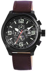【送料無料】腕時計 ウォッチ ダークエンゲルハルトアラームブラックマンブラウンレザーengelhardt reloj hombre negro de cuero marrn complicaciones automtico x389571029003