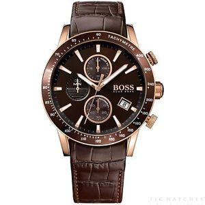 【送料無料】腕時計 ウォッチ ヒューゴボスレザーブラウンクロノグラフラファルhugo boss 1513392 rafale marrn cuero crongrafo reloj de hombre